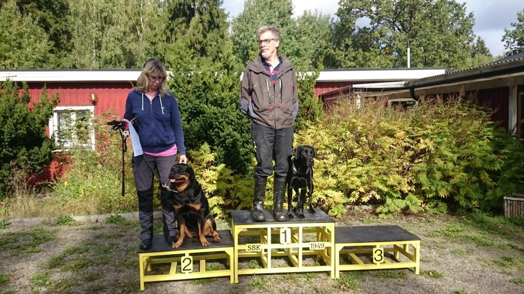 1:a Thorbjörn Brodin med Wiggo 291 poäng 2:a Laila Strömberg med Bonny 268 poäng
